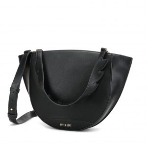 Tulip Tote Bag in Black